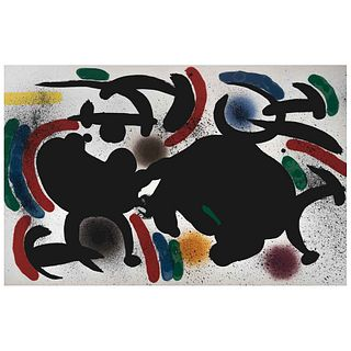 """JOAN MIRÓ, Litografía original IV, from the suite of 12 Litografías originales, 1972, Unsigned, Lithography without print number, 12.2 x 18.8"""" (31 x 4"""