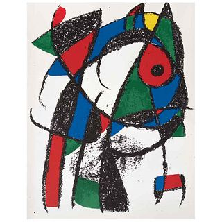 """JOAN MIRÓ, Litografía original I, from the suite of 12 litografías originales, 1972, Unsigned, Lithography without print number, 12.4 x 19.2"""" (31.5 x"""