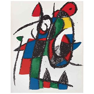 """JOAN MIRÓ, Litografía original II, from the suite of 12 litografías originales, 1972, Unsigned, Lithography without print number, 19.2 x 12.4"""" (49 x 3"""