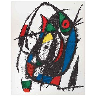 """JOAN MIRÓ Litografía original IV, from the suite of 12 Litografías originales, 1972, Unsigned, Lithographies without print number, 11.8 x 19.6"""" (30 x"""