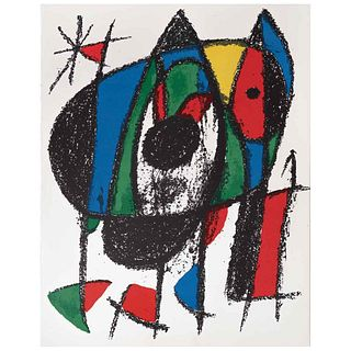 """JOAN MIRÓ, Litografía original V, from the book Miró Lithographs III, 1972, Unsigned, Lithography without print number, 12.2 x 9.4"""" (31 x 24 cm)"""
