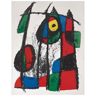 """JOAN MIRÓ, Litografía original VII, from the suite of 12 Litografías originales, 1972, Unsigned, Lithography without print number, 12.4 x 19.5"""" (31.7"""
