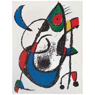 """JOAN MIRÓ, Litografía original XI, from the suite of 12 Litografías originales, 1972, Unsigned, Lithography without print number, 12.4 x 19.5"""" (31.7 x"""