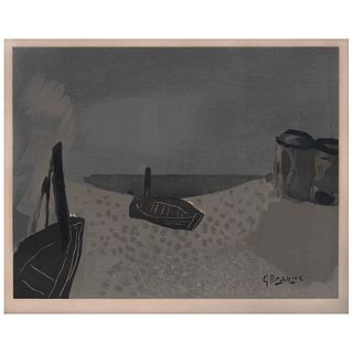 "GEORGES BRAQUE, Marina, Signed on plate, Lithography without print number, 10.6 x 13.3"" (27 x 34 cm)"