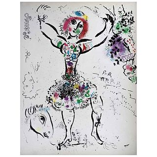 """MARC CHAGALL, La malabarista, 1960, Unsigned, Lithography without print number, 12.5 x 9.4"""" (32 x 24 cm)"""