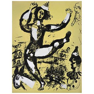 """MARC CHAGALL, Le cirque, 1960, Unsigned, Lithography without print number, 12.5 x 9.4"""" (32 x 24 cm)"""
