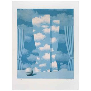 "RENÉ MAGRITTE, La peine perdue, 2010, Signed with stamp, Lithography 53 / 275, 18.5 x 14.9"" (47 x 38 cm), Stamp"