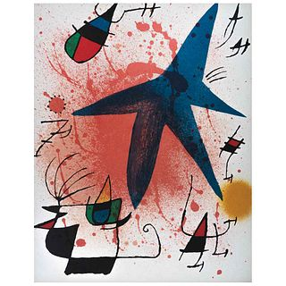 """JOAN MIRÓ, L`Astre Bleu, 1972, Unsigned, Lithography without print number, 12.5 x 9.8"""" (32 x 25 cm)"""
