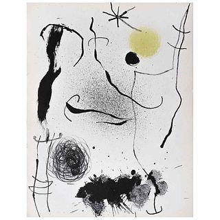 """JOAN MIRÓ, Bouquet de rêves pour Leïla, 1964, Unsigned, Lithography without print number, 12.2 x 9.4"""" (31 x 24 cm)"""