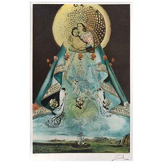 """SALVADOR DALÍ, La Vierge de Guadeloupe, Signed, Lithography 151 / 300, 25.9 x 16.5"""" (66 x 42 cm)"""