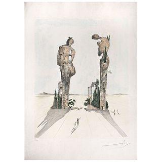 """SALVADOR DALÍ, Etude pour L'Angelus de Millet, Signed in pencil, Stencil 222 / 300, 27.1 x 21.2"""" (69 x 54 cm)"""