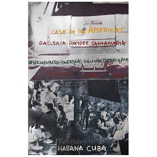 "ROBERT RAUSCHENBERG, Roci - Cuba, Signed, Offset lithography and serigraph without print number, 34.6 x 22.8"" (88 x 58 cm)"