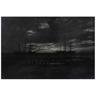 "HUGO BREHME, Crepúsculo en Laguna de Terminos, Campeche, Signed, Silver / gelatin, 25 x 36.8"" (63.5 x 93.5 cm)"