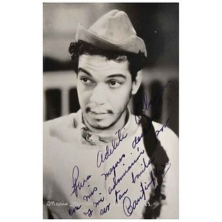 """UNIDENTIFIED PHOTOGRAPHER, Mario Moreno, Cantinflas, Unsigned, Postcard, 6.8 x 5.3"""" (17.3 x 13.6 cm)"""
