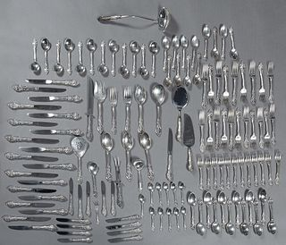 "One Hundred Twenty-Nine Piece Set of Sterling Flatware, by Gorham, in the ""La Scala"" pattern, designed in 1964 by Richard Gavette (1930-2018), consist"