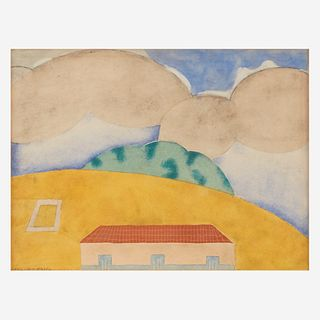 Carlos Mérida (Guatemalan, 1895-1984) Landscape