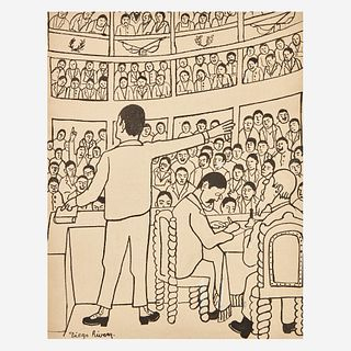 "Diego Rivera (Mexican, 1886-1957) Untitled (Orator) Illustration for ""Fermín"""