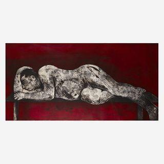 William Kentridge (South African, b. 1955) Sleeper Red from Sleeper Series