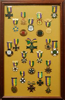 Mardi Gras- Group of Twenty-Four Rex Ducal Badges, from 1962, 1963, 1964, 1965, 1966, 1967, 1968, 1969, 1970, 1971, 1972, 1973, 1974, 1975, 1976, 1977