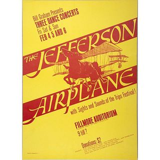 Jefferson Airplane and Jefferson Airplane/Grateful Dead Concert Posters