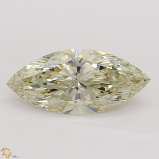 2.02 ct, Natural Fancy Light Brownish Yellow Even Color, IF, Marquise cut Diamond (GIA Graded), Unmounted, Appraised Value: $22,800