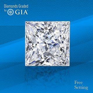 2.01 ct, D/VS1, Princess cut GIA Graded Diamond. Unmounted. Appraised Value: $59,000