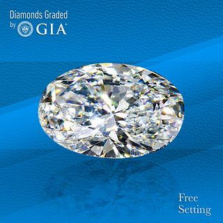 1.51 ct, D/VS1, Oval cut GIA Graded Diamond. Unmounted. Appraised Value: $29,900