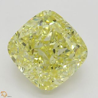 3.24 ct, Natural Fancy Yellow Even Color, VS1, Cushion cut Diamond (GIA Graded), Unmounted, Appraised Value: $64,100