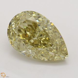 4.02 ct, Natural Fancy Brownish Yellow Even Color, VVS1, Pear cut Diamond (GIA Graded), Unmounted, Appraised Value: $74,300