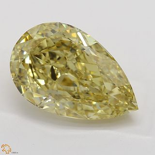 4.01 ct, Natural Fancy Brownish Yellow Even Color, VS1, Pear cut Diamond (GIA Graded), Unmounted, Appraised Value: $68,900