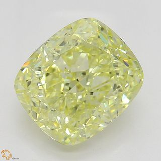 2.05 ct, Natural Fancy Yellow Even Color, VS1, Cushion cut Diamond (GIA Graded), Unmounted, Appraised Value: $28,600