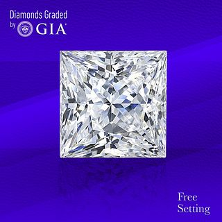 1.67 ct, E/VS2, Princess cut GIA Graded Diamond. Unmounted. Appraised Value: $24,300