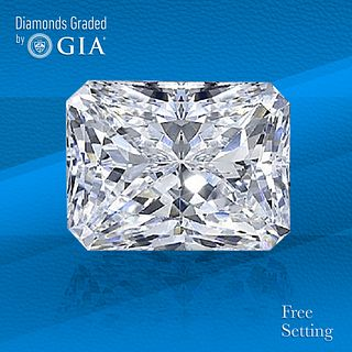2.52 ct, D/VVS1, Radiant cut GIA Graded Diamond. Unmounted. Appraised Value: $91,000