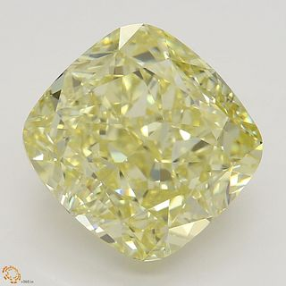 5.01 ct, Natural Fancy Yellow Even Color, VS1, Cushion cut Diamond (GIA Graded), Unmounted, Appraised Value: $151,800