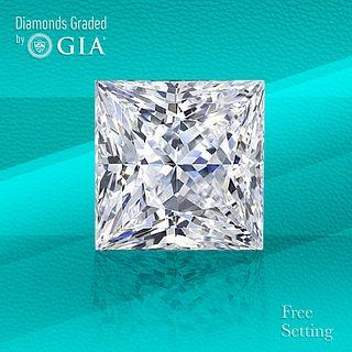 1.52 ct, F/VS2, Princess cut GIA Graded Diamond. Unmounted. Appraised Value: $21,300
