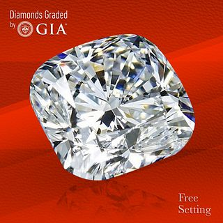3.01 ct, G/VVS2, Cushion cut GIA Graded Diamond. Unmounted. Appraised Value: $116,000
