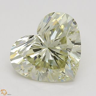 2.02 ct, Natural Fancy Light Brownish Greenish Yellow Even Color, VS2, Heart cut Diamond (GIA Graded), Unmounted, Appraised Value: $27,000