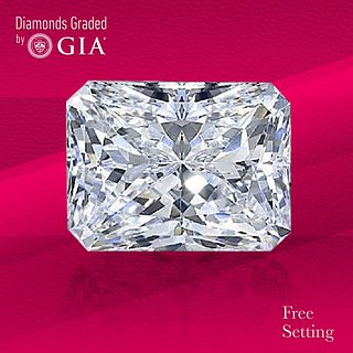 3.02 ct, D/VS2, Radiant cut GIA Graded Diamond. Unmounted. Appraised Value: $125,000