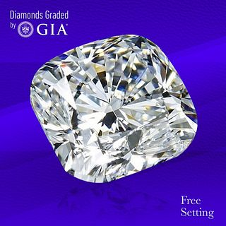 2.40 ct, E/VVS1, Cushion cut GIA Graded Diamond. Unmounted. Appraised Value: $74,000