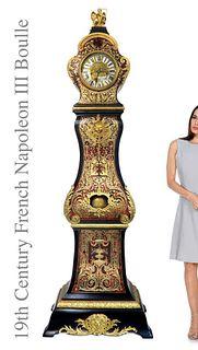 Napoleon III Boulle Figural Bronze grandfather Clock