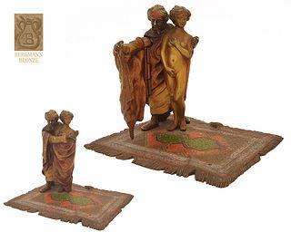 Orientalist Slave Trader, Bergman Bronze Figurine Group