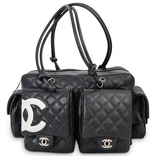"Chanel Black Calfskin ""Cambon Ligne"" Multi Pocket Bag"