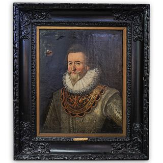 Attrib. Alonso Sanchez Coello (1531-1590) Oil On Canvas Painting