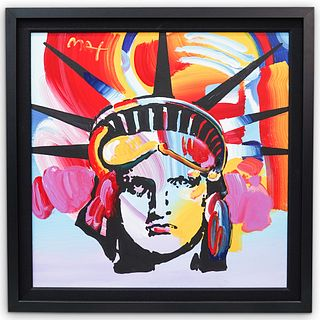 """Peter Max (American b. 1937) """"Delta"""" Acrylic On Canvas"""