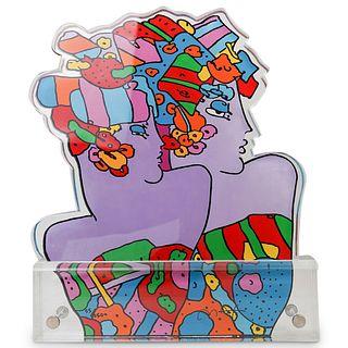"Peter Max (American b. 1937) ""Monorian"" Acrylic Sculpture"