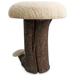 Vintage Mushroom Vanity Seat