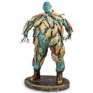 """""""Don Kennel"""" Figural Surreal Metal Sculpture"""