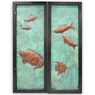 Monumental Architectural Salvage Fish Plaques