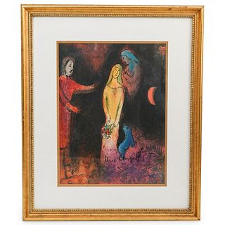 Marc Chagall Pencil Signed Lithograph Print