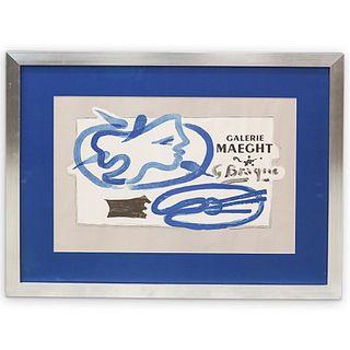 George Braque (1882-1963) Galerie Maeght Original Exhibition Poster
